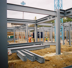 Foundations and steelwork frame