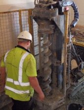 Piled underpinning remedial works